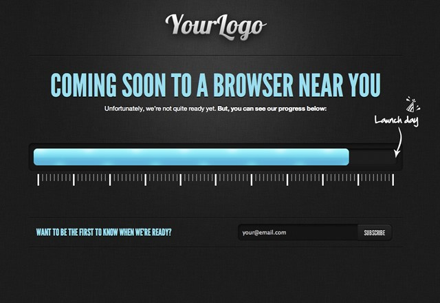 HTML5 Coming Soon Template