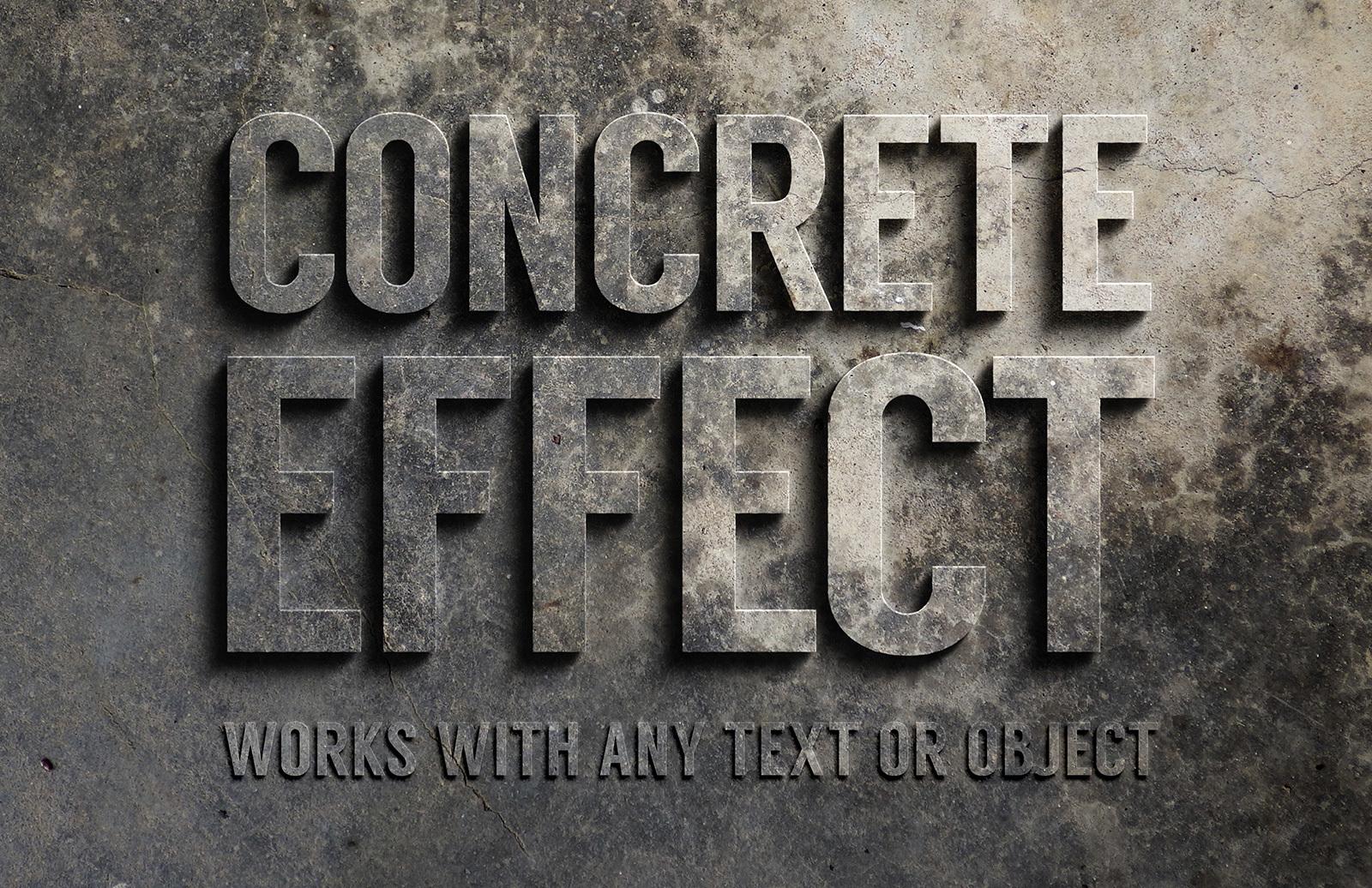 Concrete Text Effect Preview 1