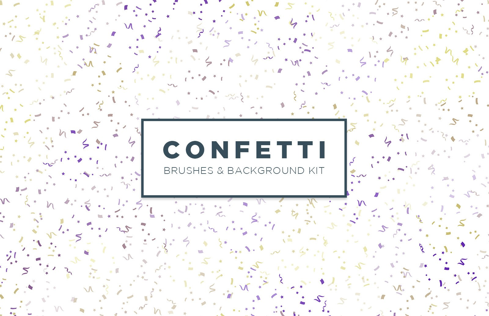 Confetti Brushes And Background Kit Preview 1