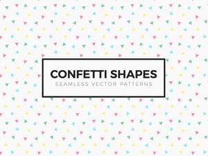 Confetti Shapes Seamless Patterns 1