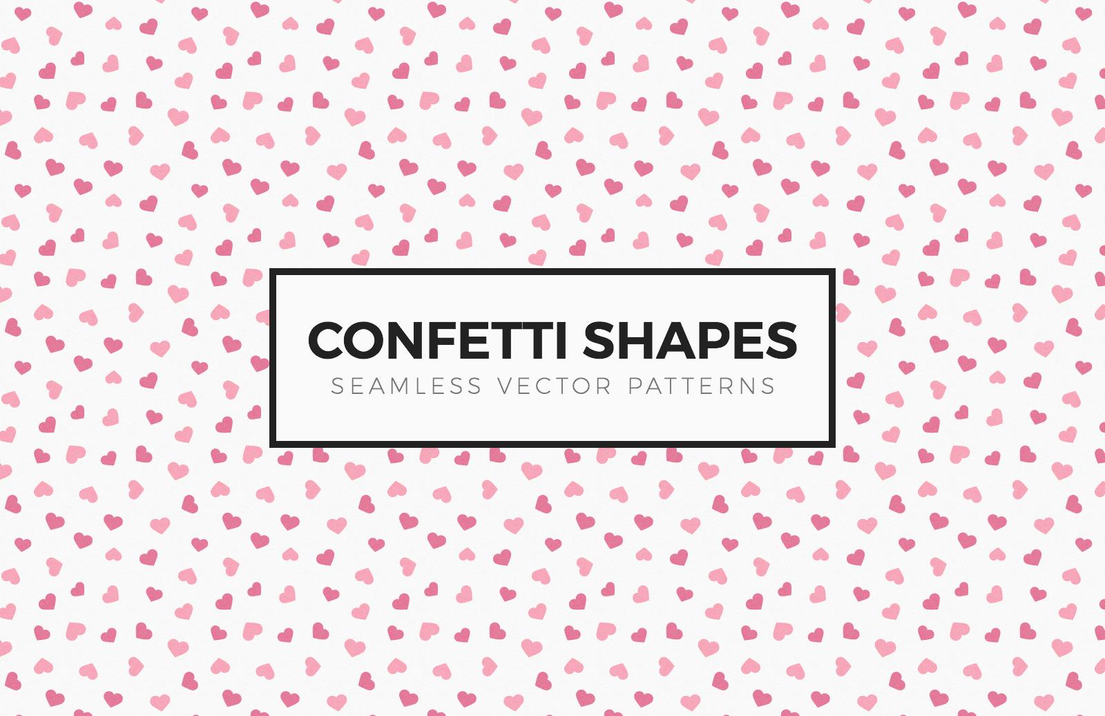 Confetti Shapes Seamless Patterns