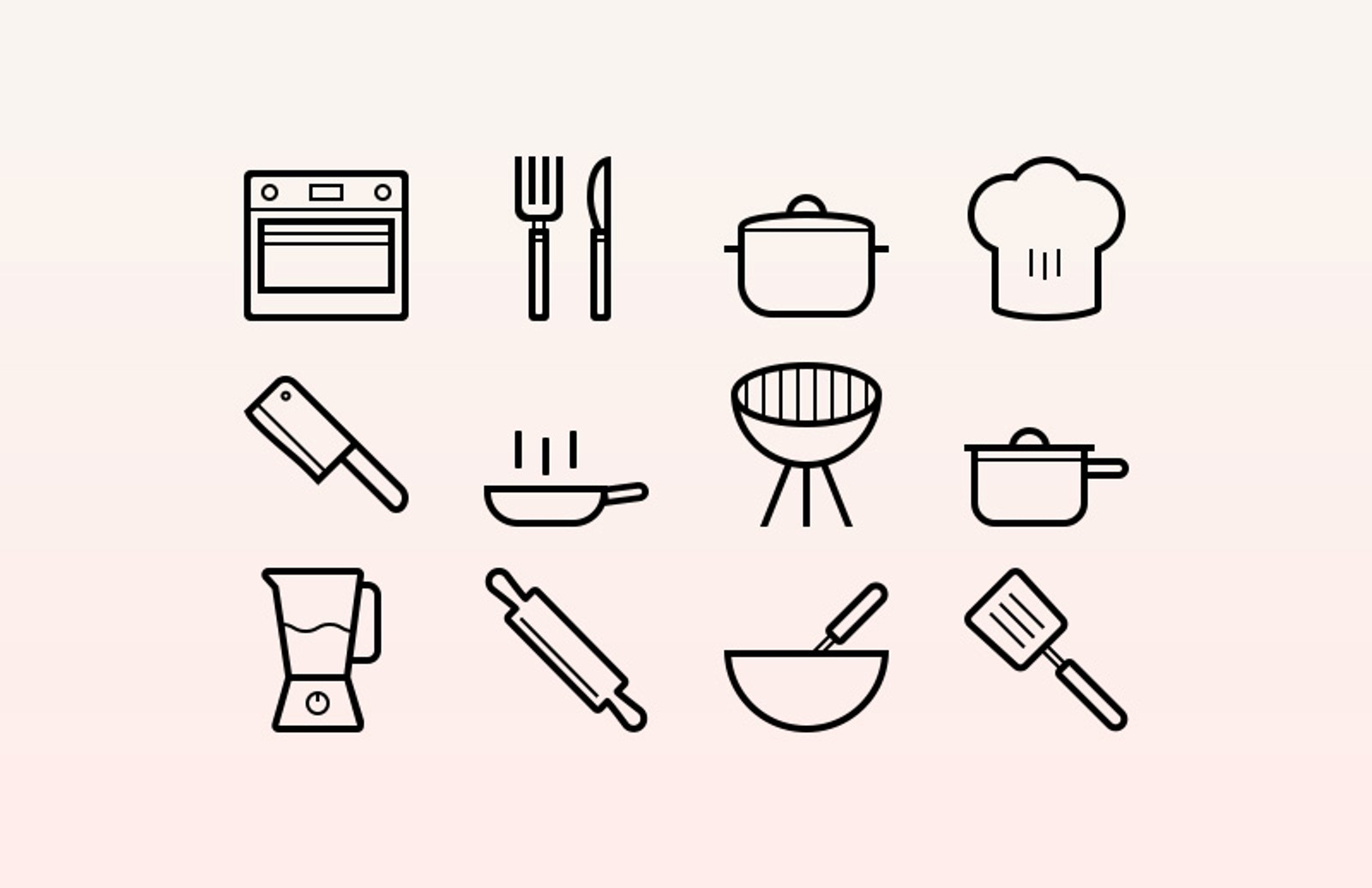 Cooking  Vector  Icons  Preview 1