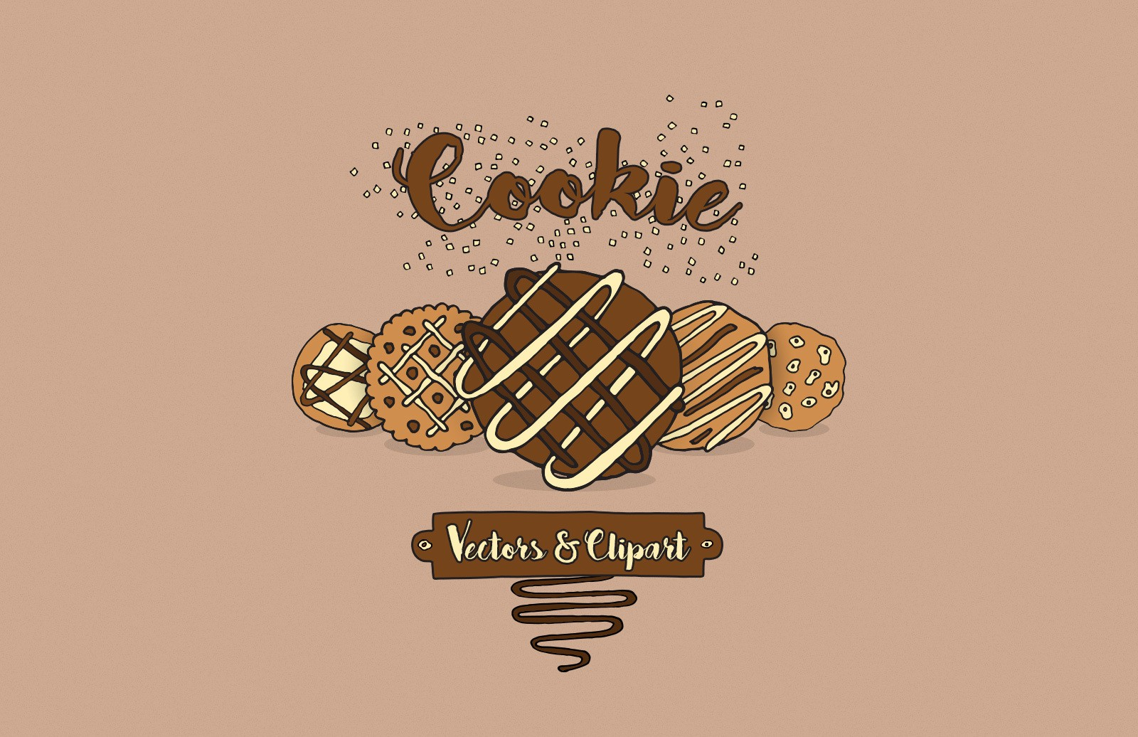 Cookie Vectors And Clipart Preview 1