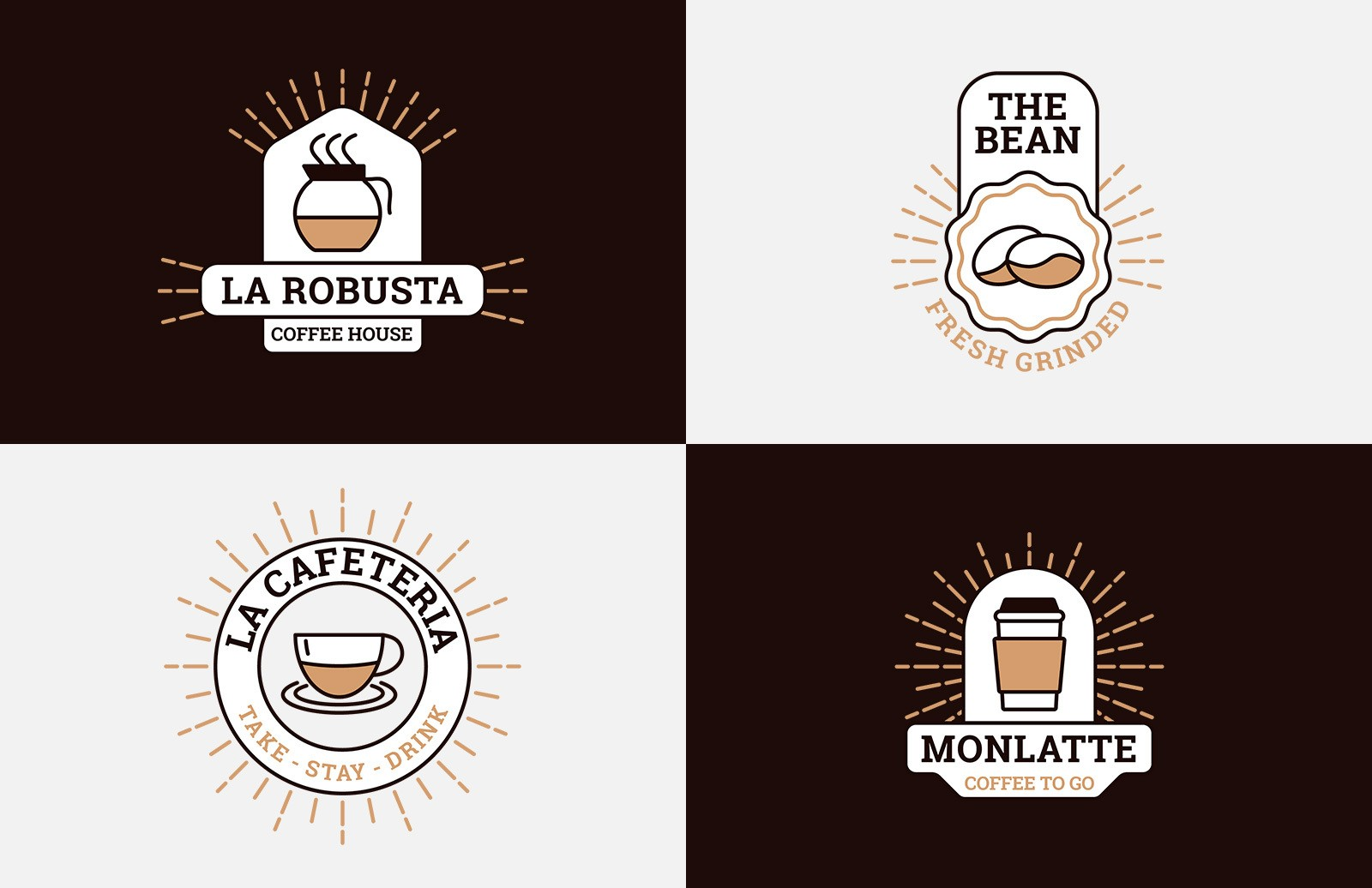 Coffee Logo Templates Preview 1
