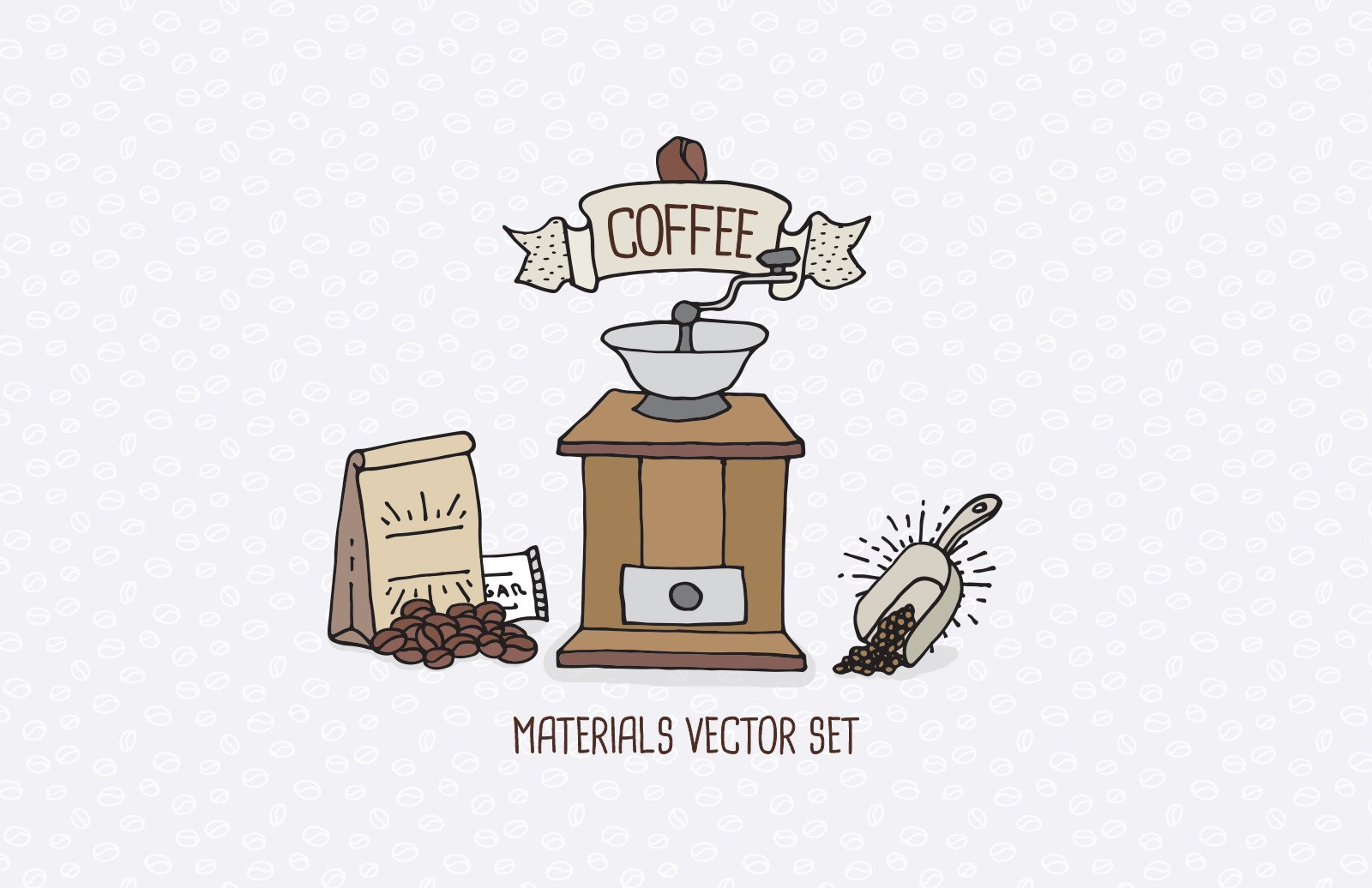 Coffee Shop Materials Vector Set Preview 1