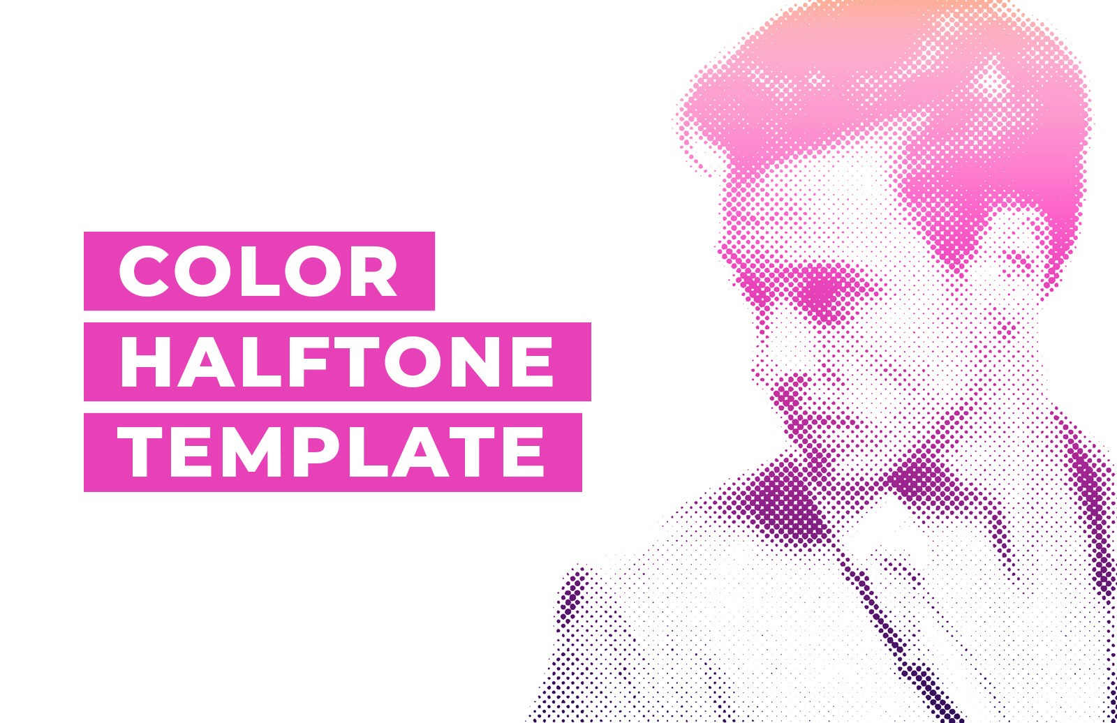 Color Halftone Template Preview 1