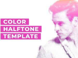 Color Halftone Template 1