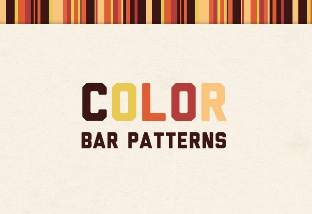 Seamless Color Bar Patterns