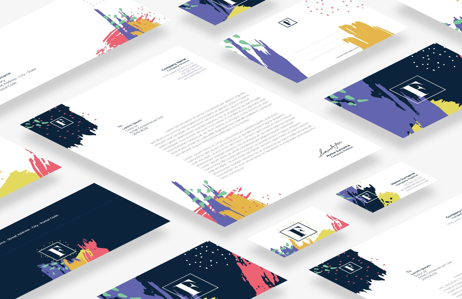 Colorful Business Stationery Preview 1