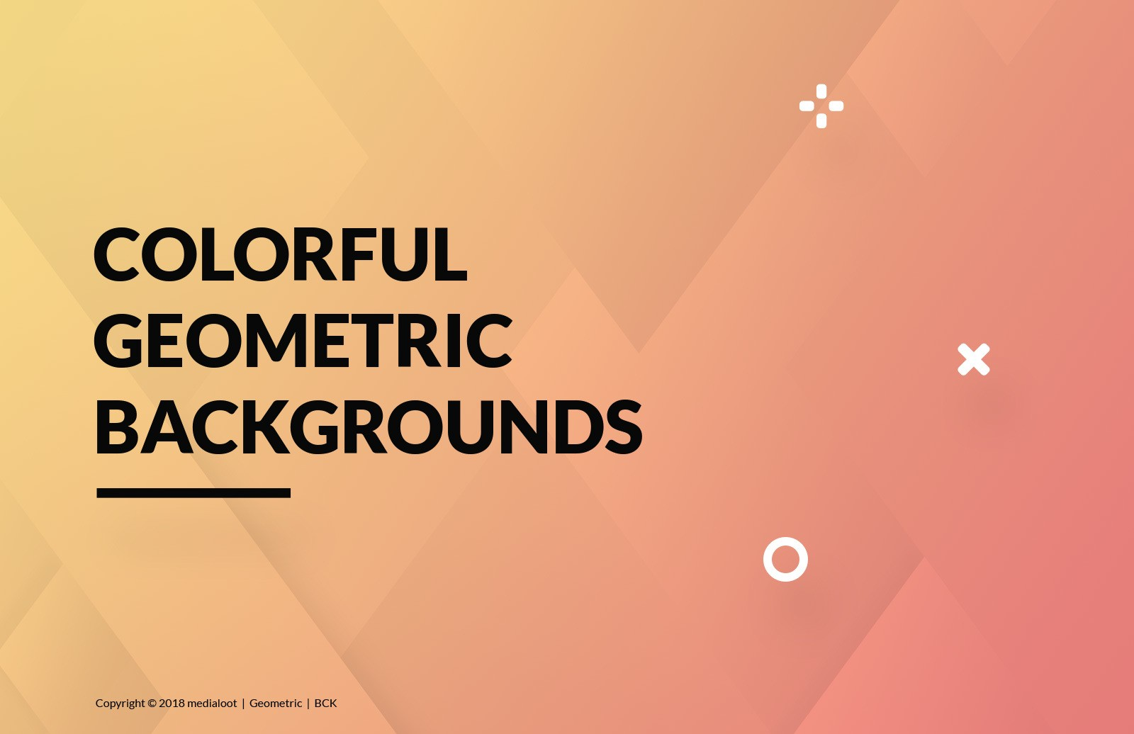 Colorful Geometric Backgrounds Preview 1