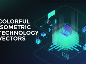 Colorful Isometric Technology Vectors 1