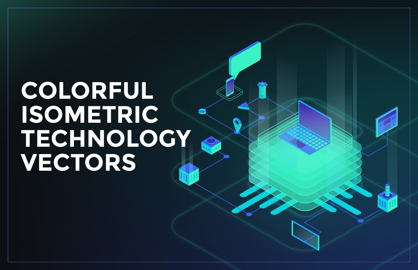 Colorful Isometric Technology Vectors