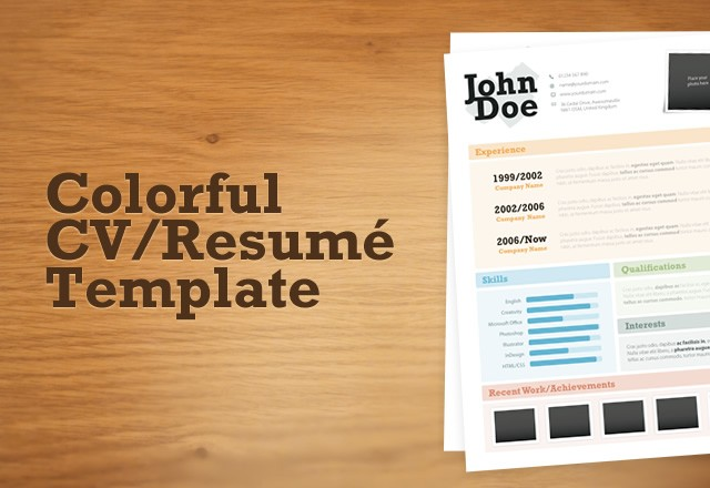 Colorful CV/Resumé Template