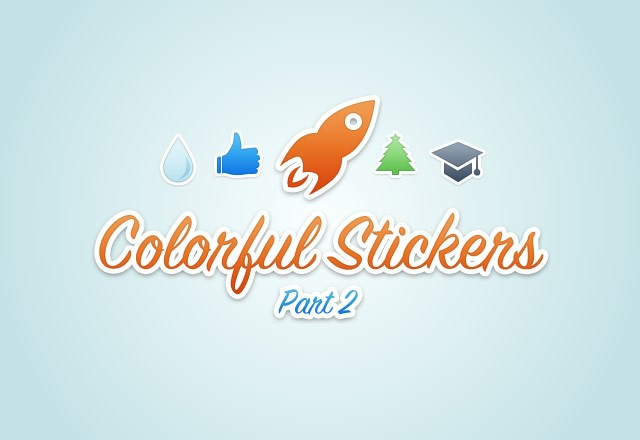 Colorful  Vector  Stickers2  Preview1