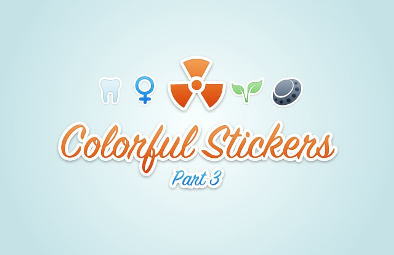 Colorful  Vector  Stickers3  Preview1