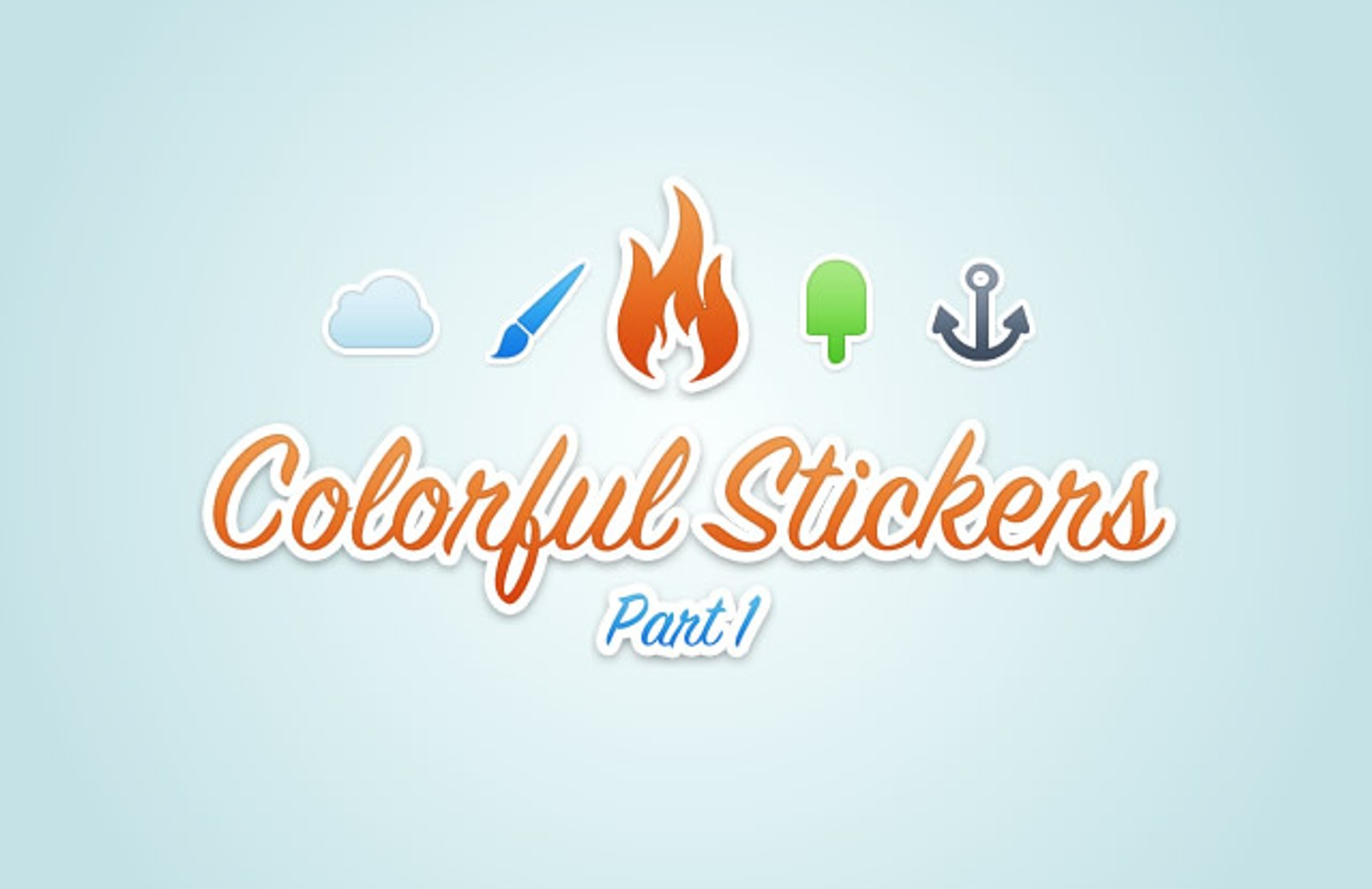 Colorful  Vector  Stickers  Preview1