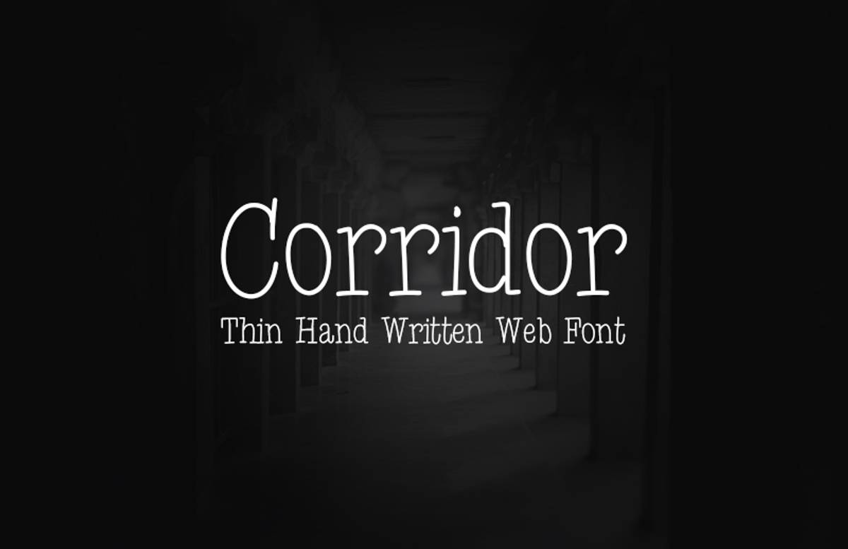 Corridor  Thin  Hand  Written  Web  Font 800X518 1