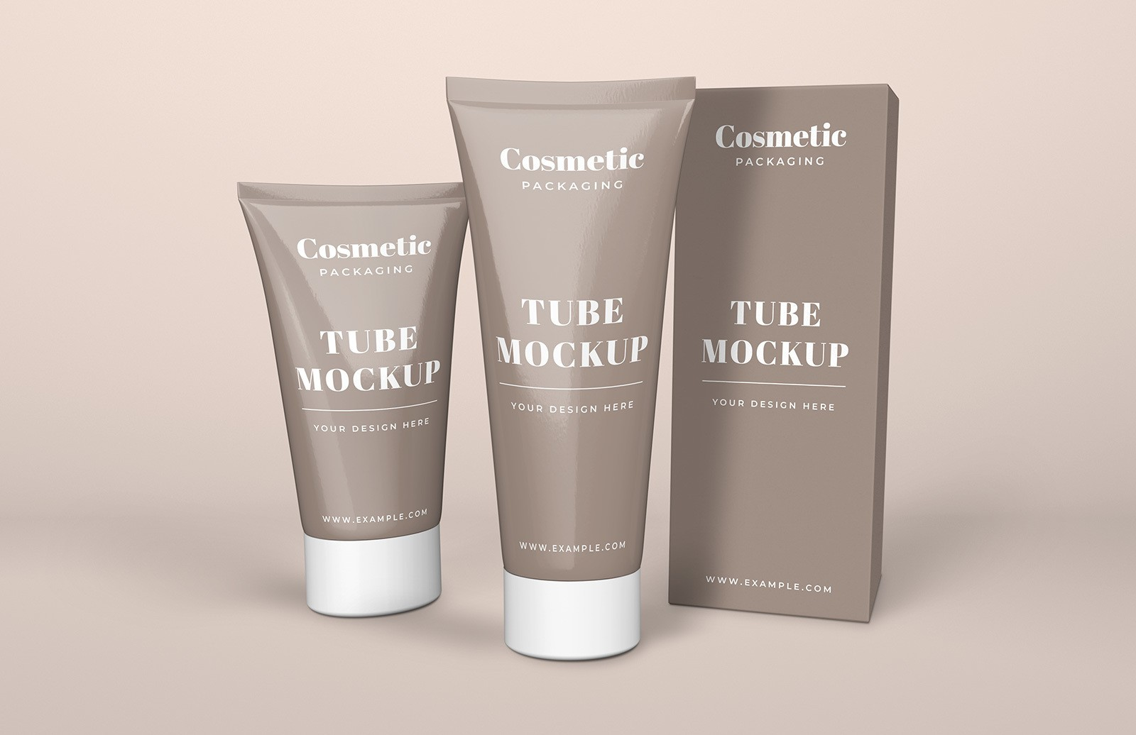 Cosmetic Tube Box Mockup Preview 1