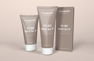 Cosmetic Tube & Box Mockup