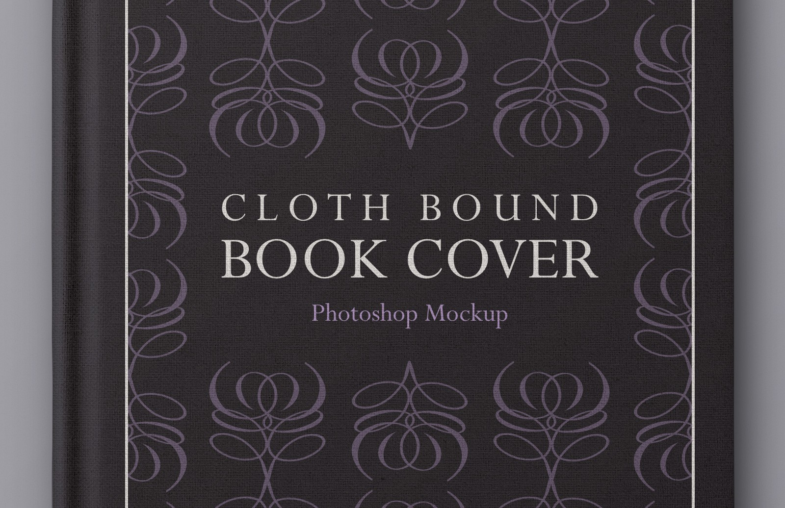 Large Cloth  Bound  Book  Cover  Mockup  Preview 1A