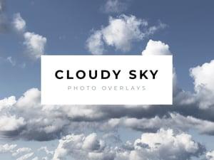 Cloudy Sky Photo Overlays 1