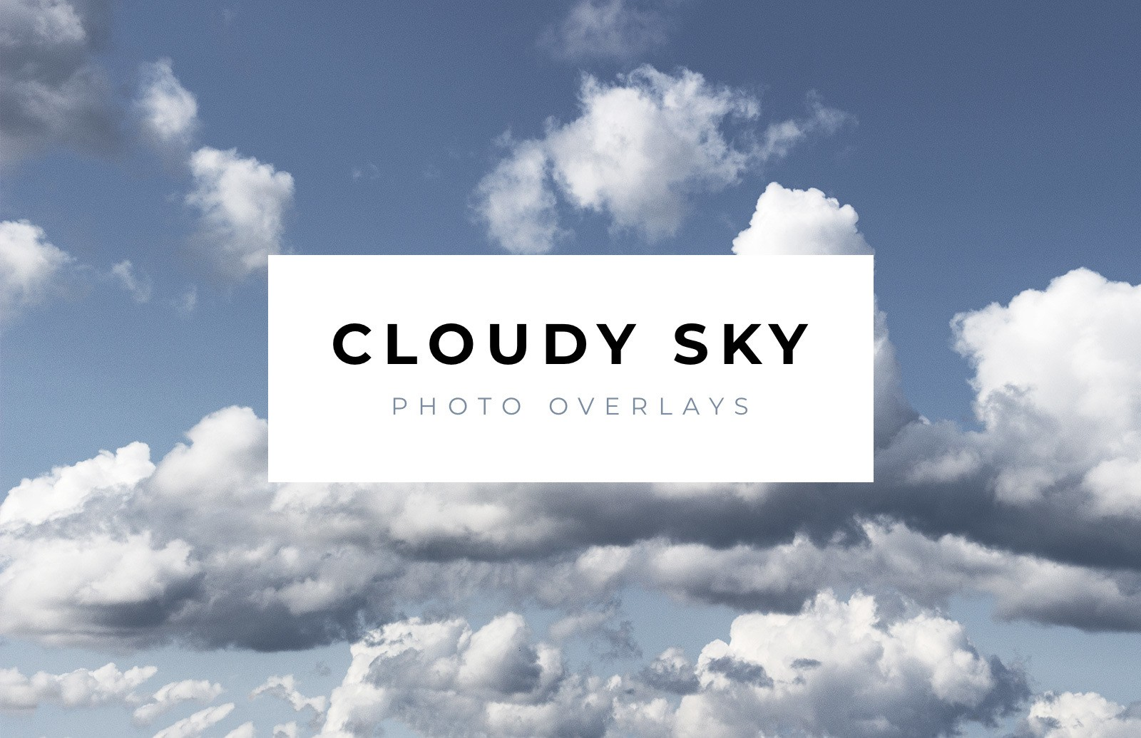 Cloud Sky Photo Overlays Preview 1