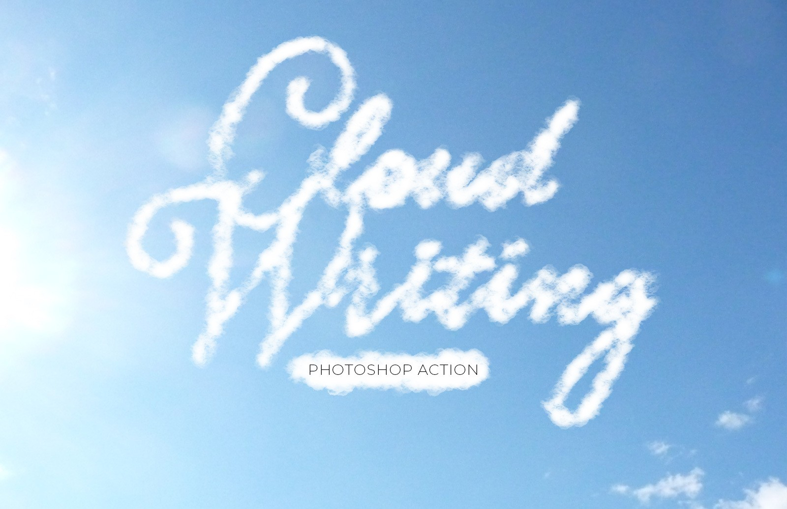 Cloud Writing Photoshop Action Preview 1B
