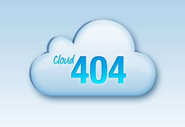 Cloud 404 Error Page