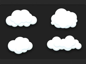 Vector Cloud Icons 2