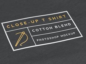 Close-Up T Shirt Mockup 1