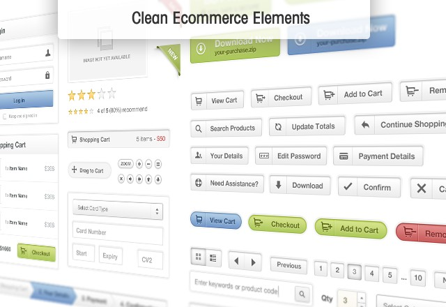 Clean Ecommerce Elements