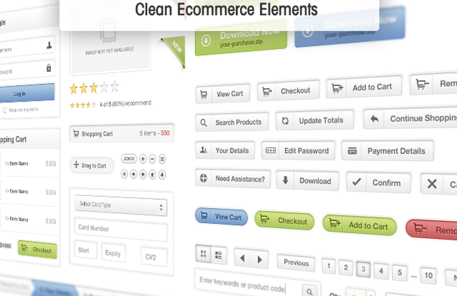 Clean  Ecommerce  Elements  Preview1