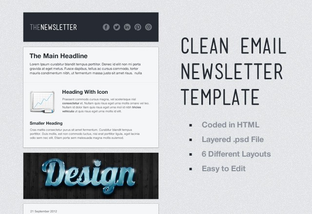 Clean  Email  Newsletter  Template  Preview1