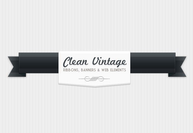 Clean Vintage Web Elements