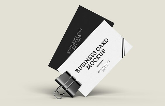 Clipped Business Card Mockup