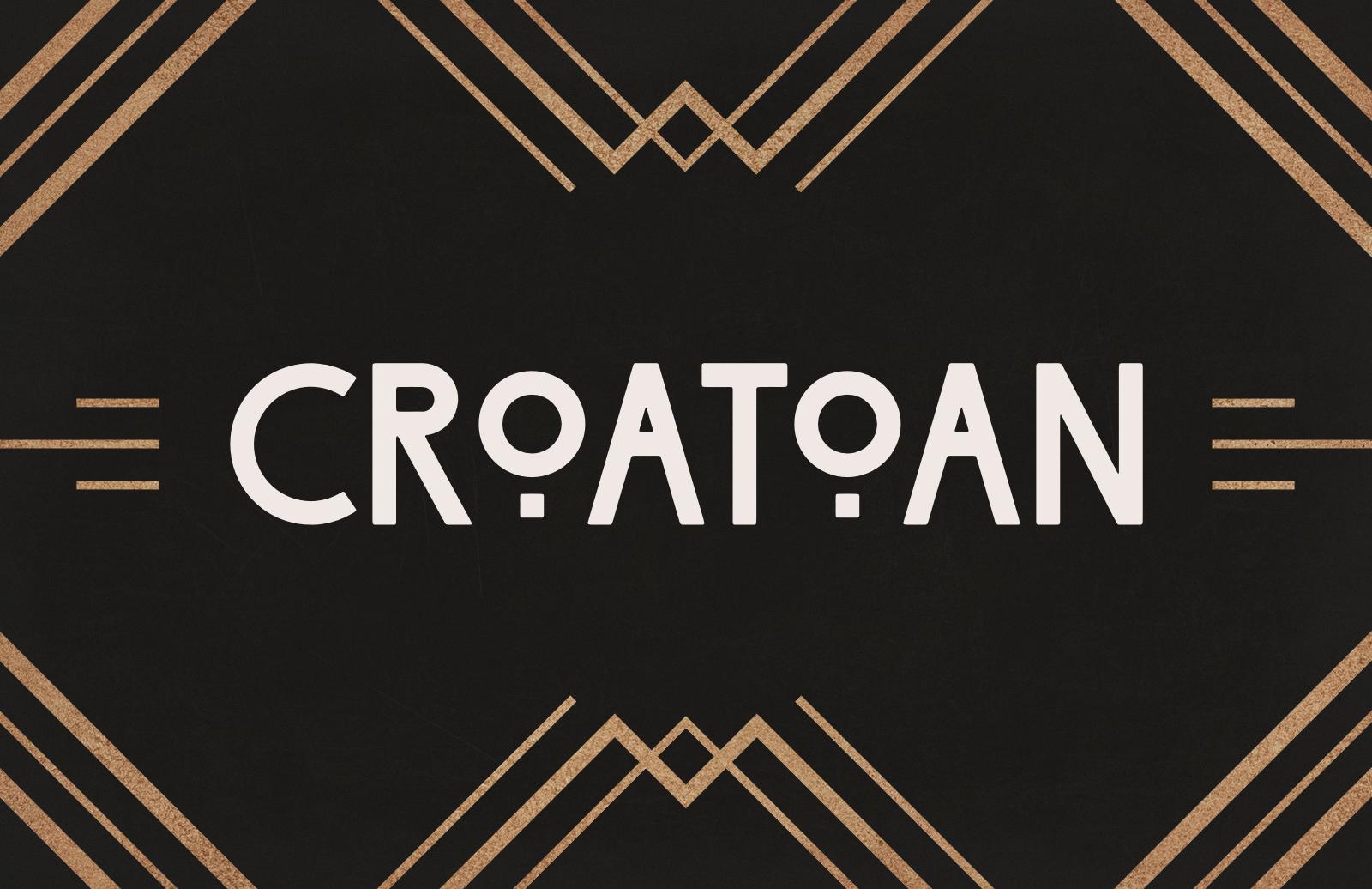 Croatoan - Art Deco Headline Font