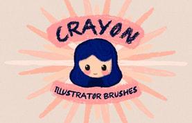 Crayon Illustrator Brushes