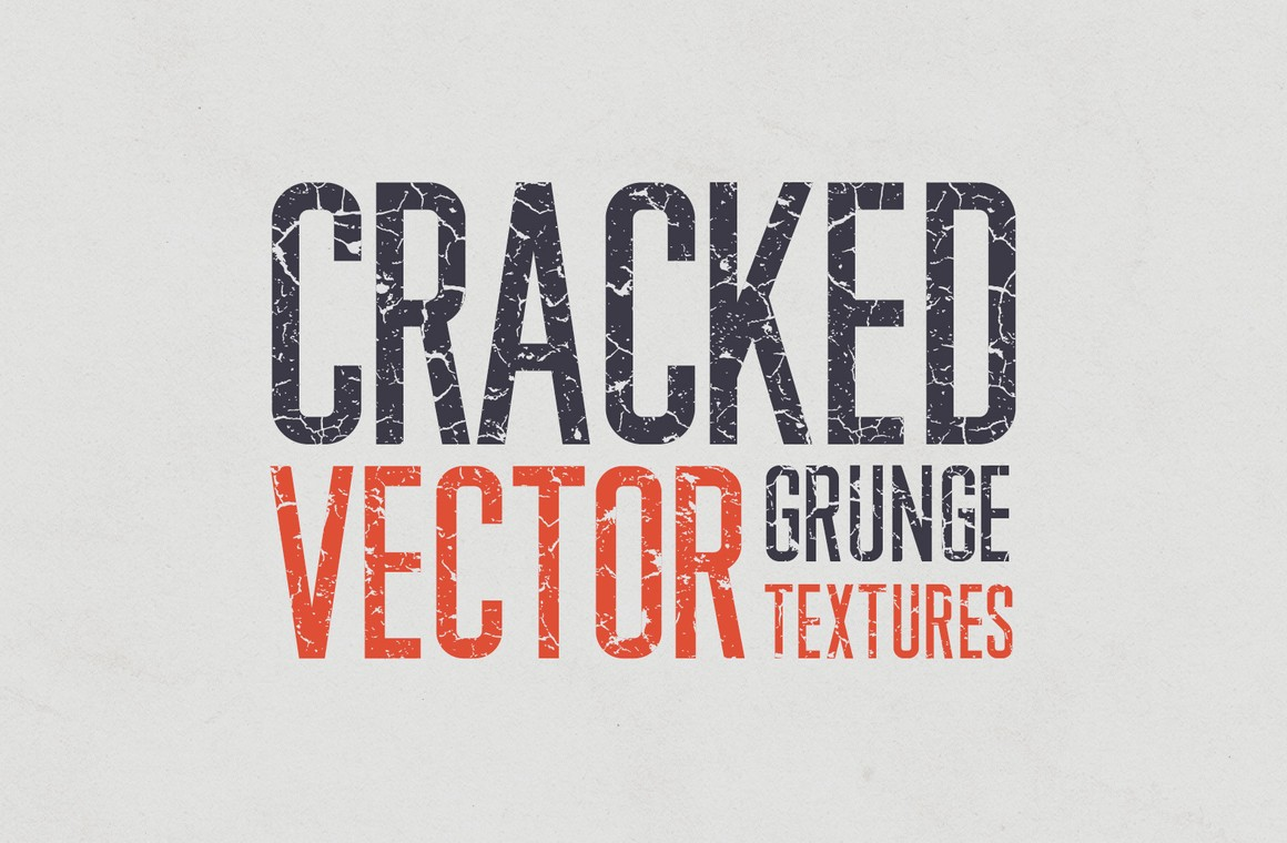 Cracked Vector Grunge Textures