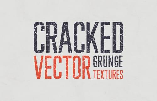 Cracked Vector Grunge Textures