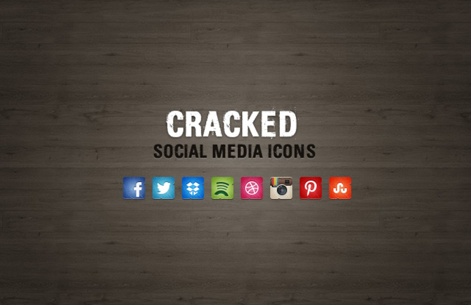 Cracked  Social  Media  Icons  Preview1