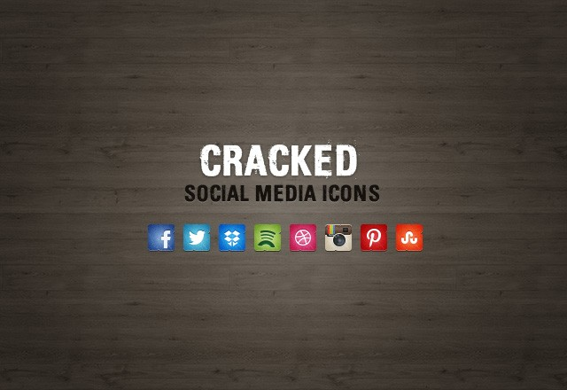 Cracked Social Media Icons