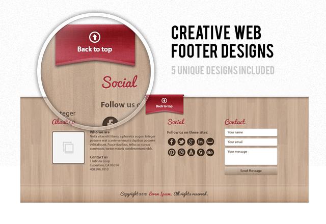 Creative Web Footer Designs