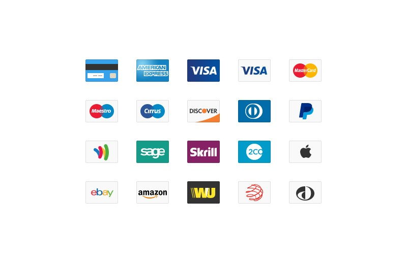 Credit  Card  Icons  Preview 1A