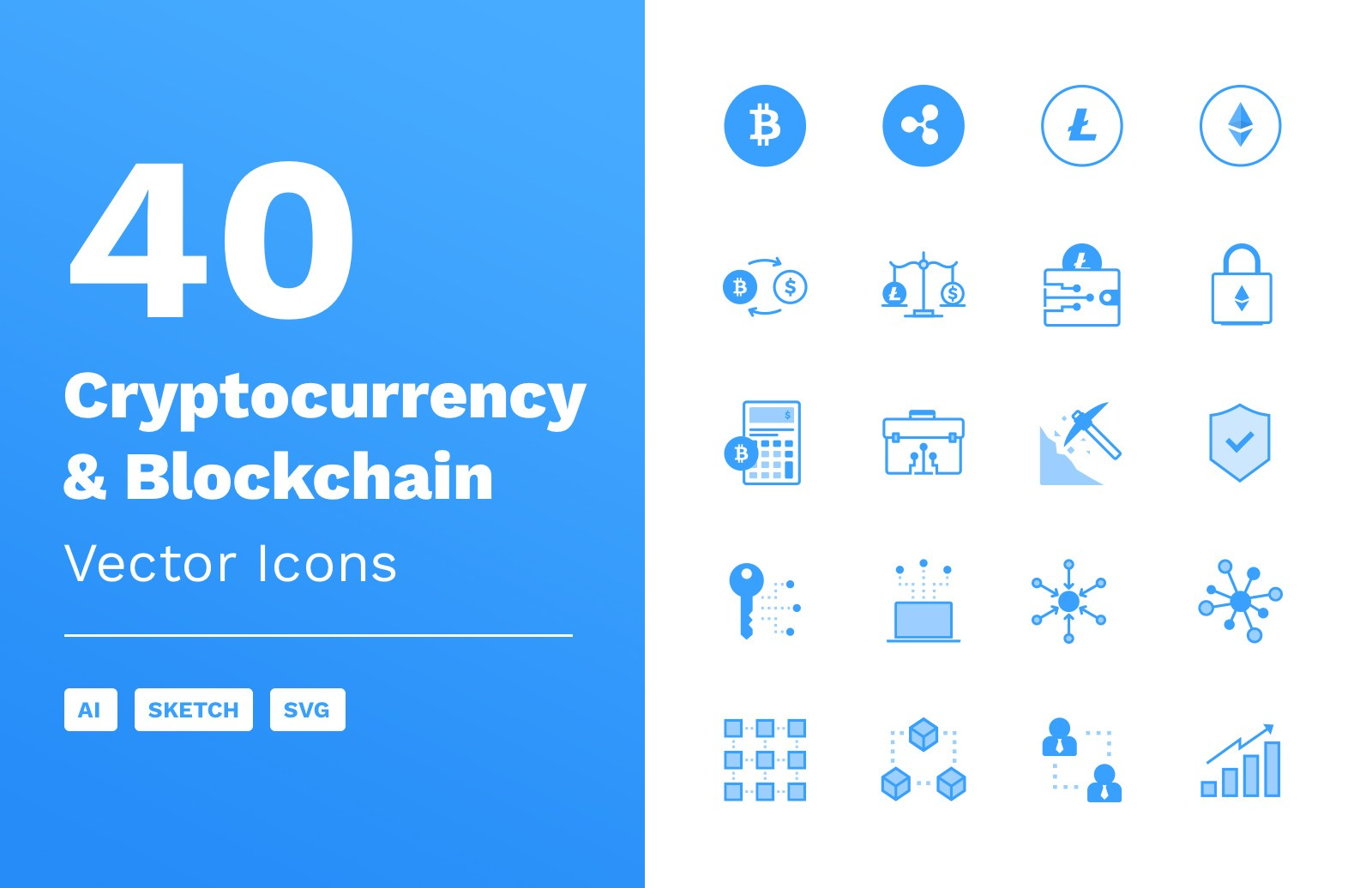 Cryptocurrency & Blockchain Vector Icons