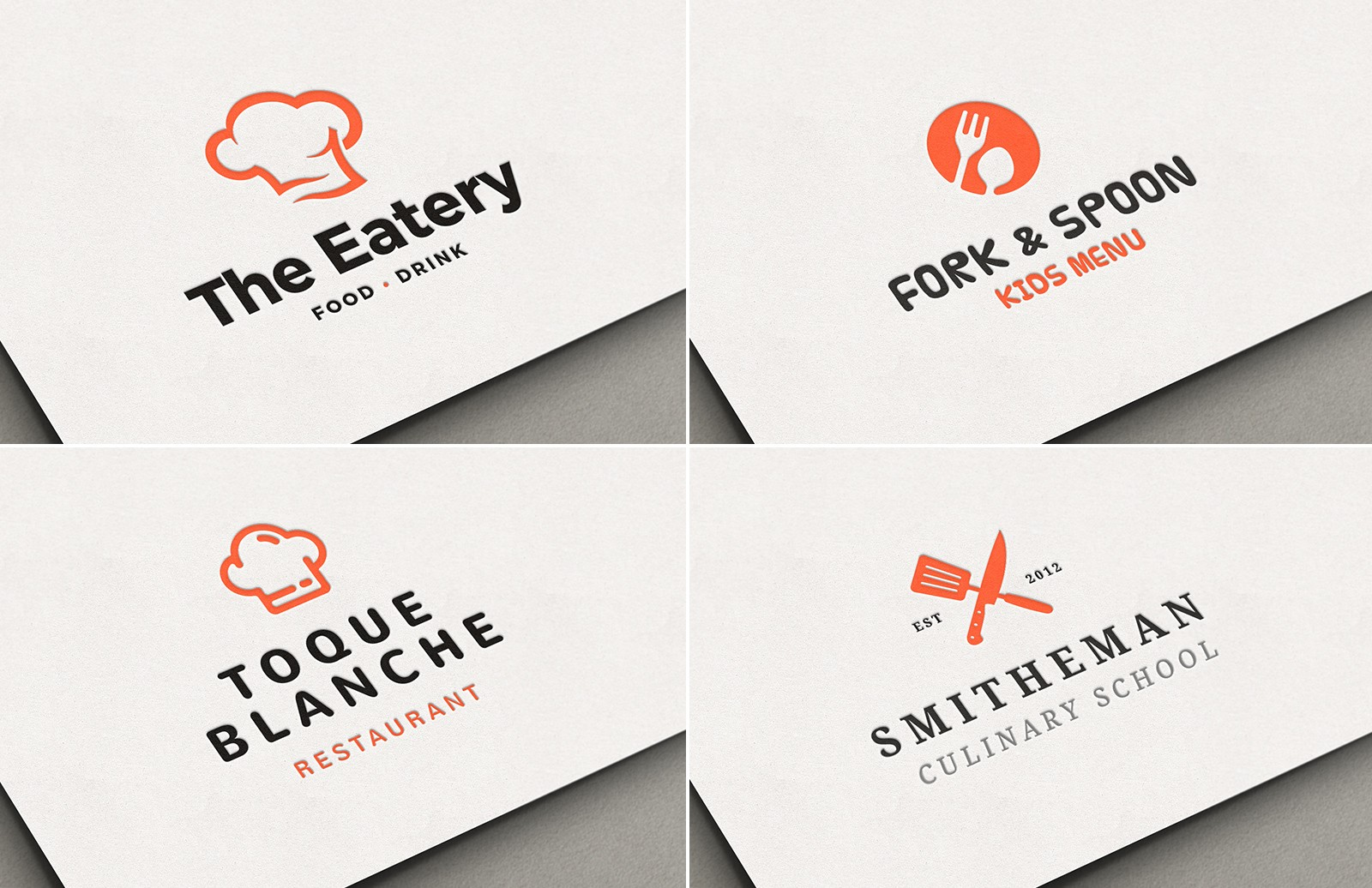Culinary Restaurant Logos Preview 1A