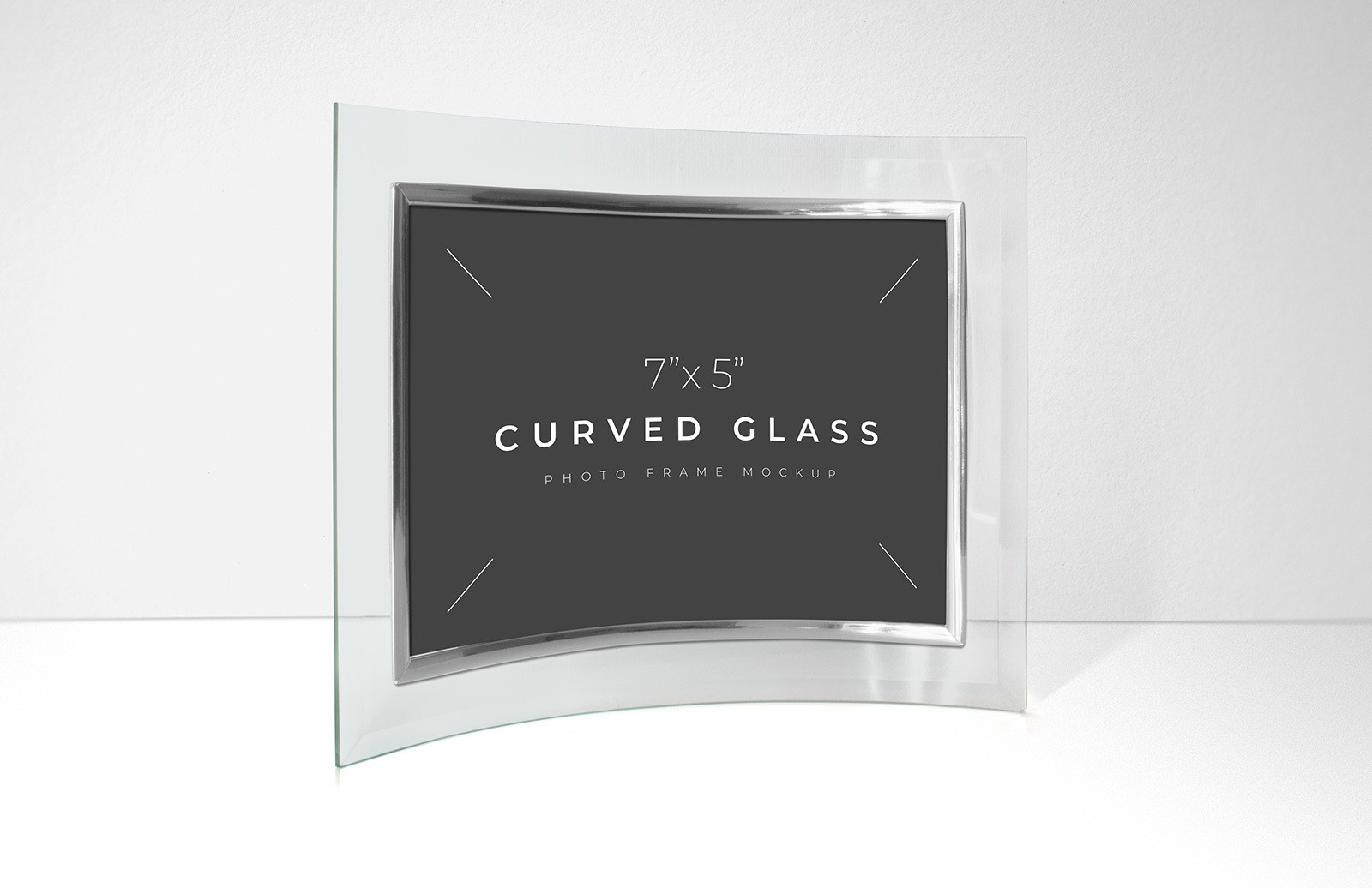 Curved Glass Photo Frame Mockup Preview 1