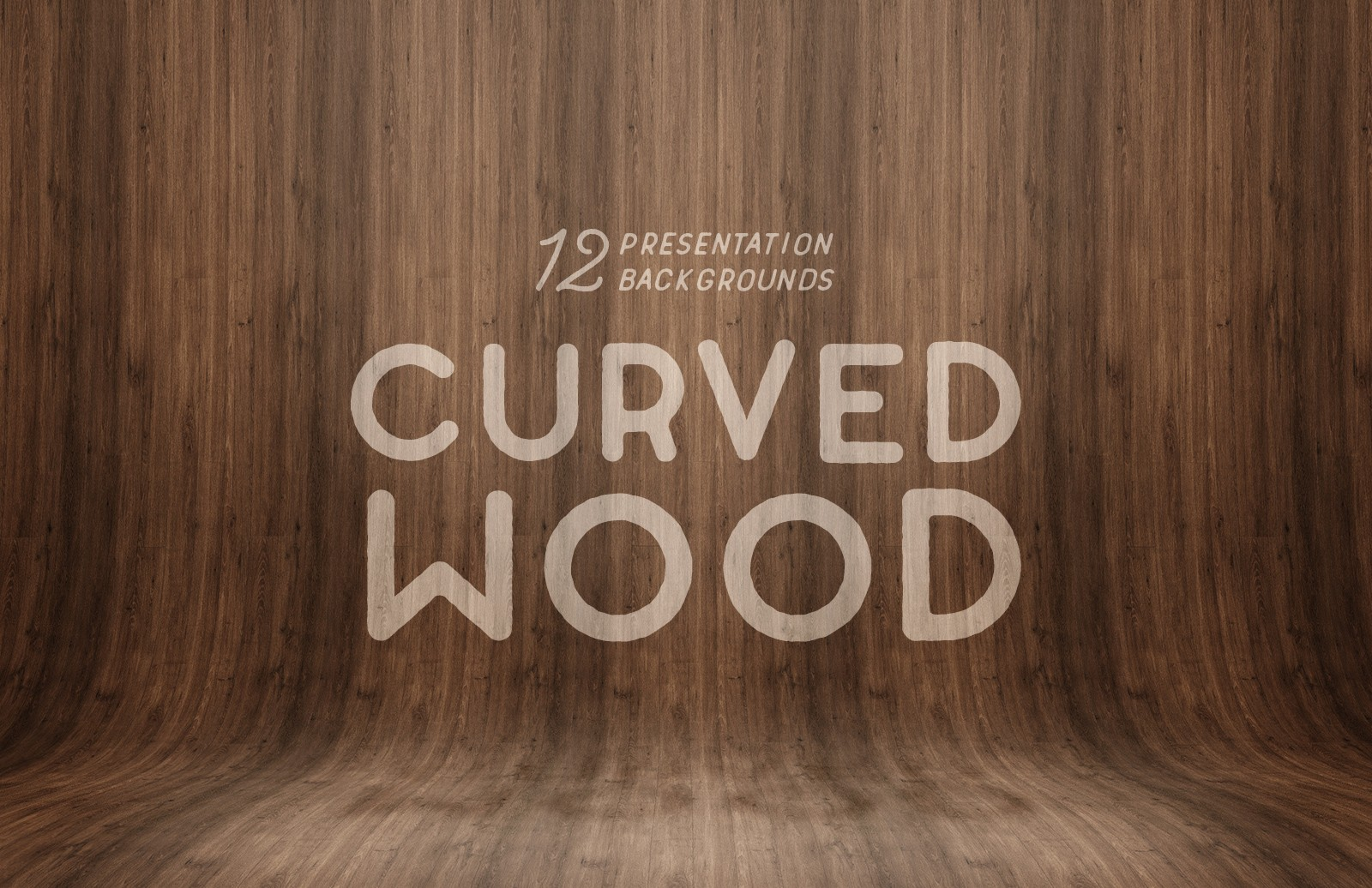 Curved Wood Presentation Backgrounds