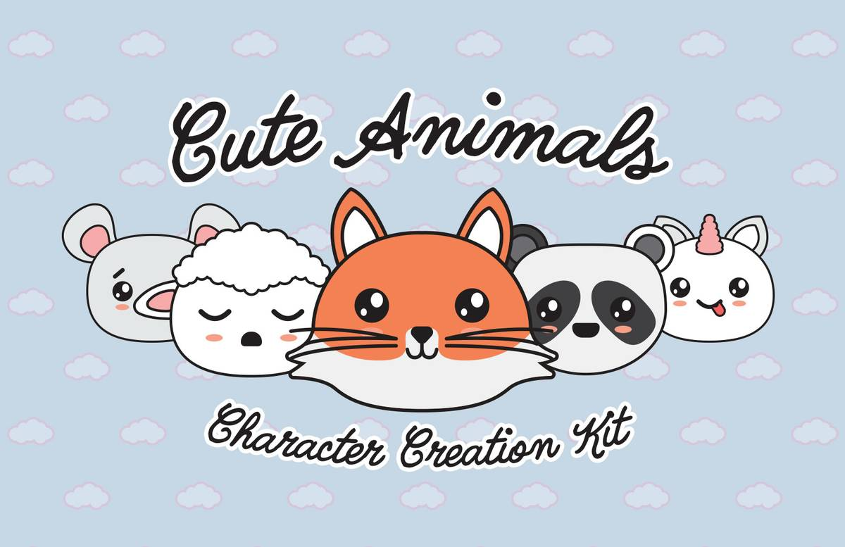 Cute Animals Character Creation Kit Preview 1