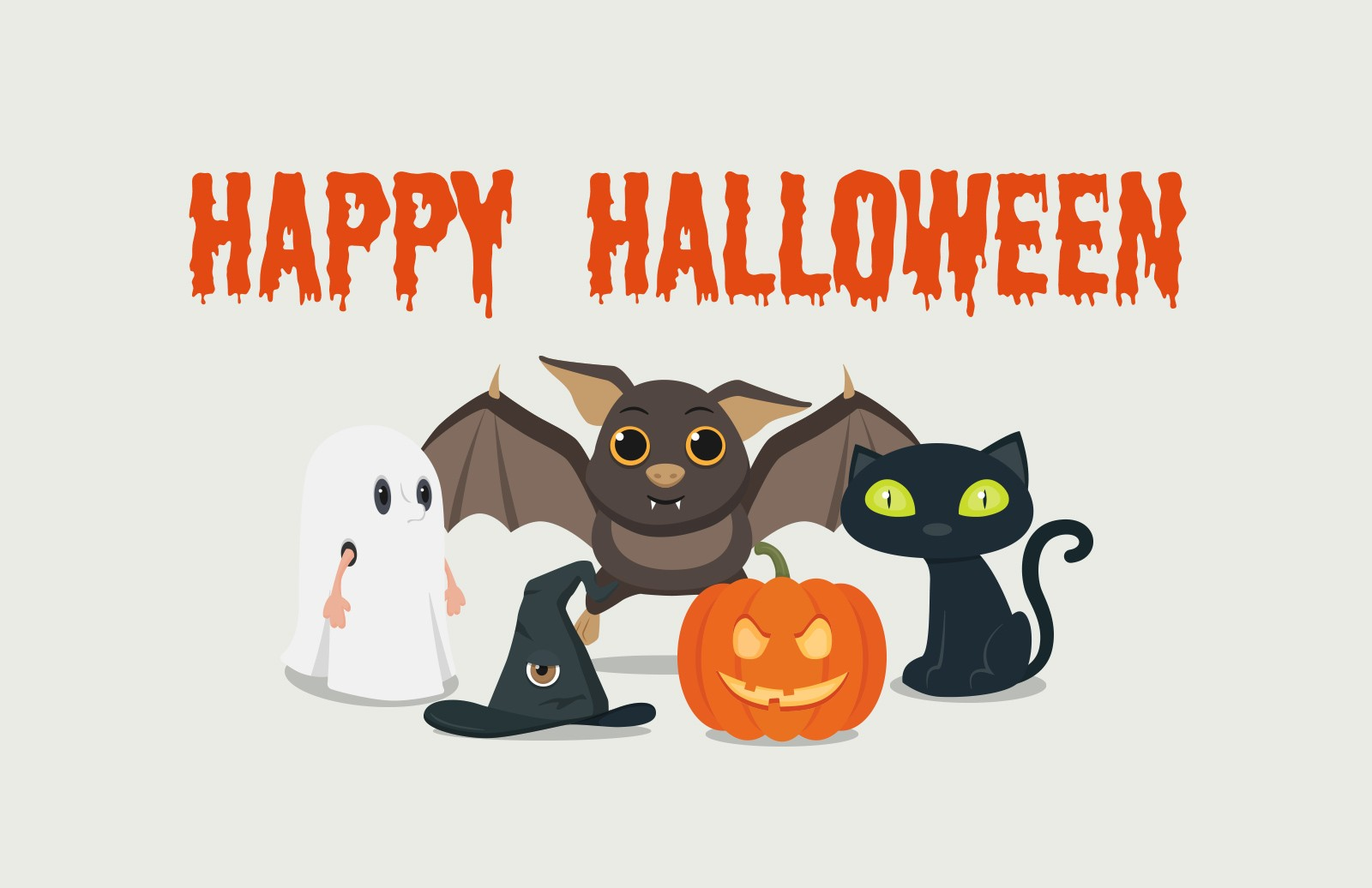 Cute  Vector  Halloween  Vectors  Preview 1A