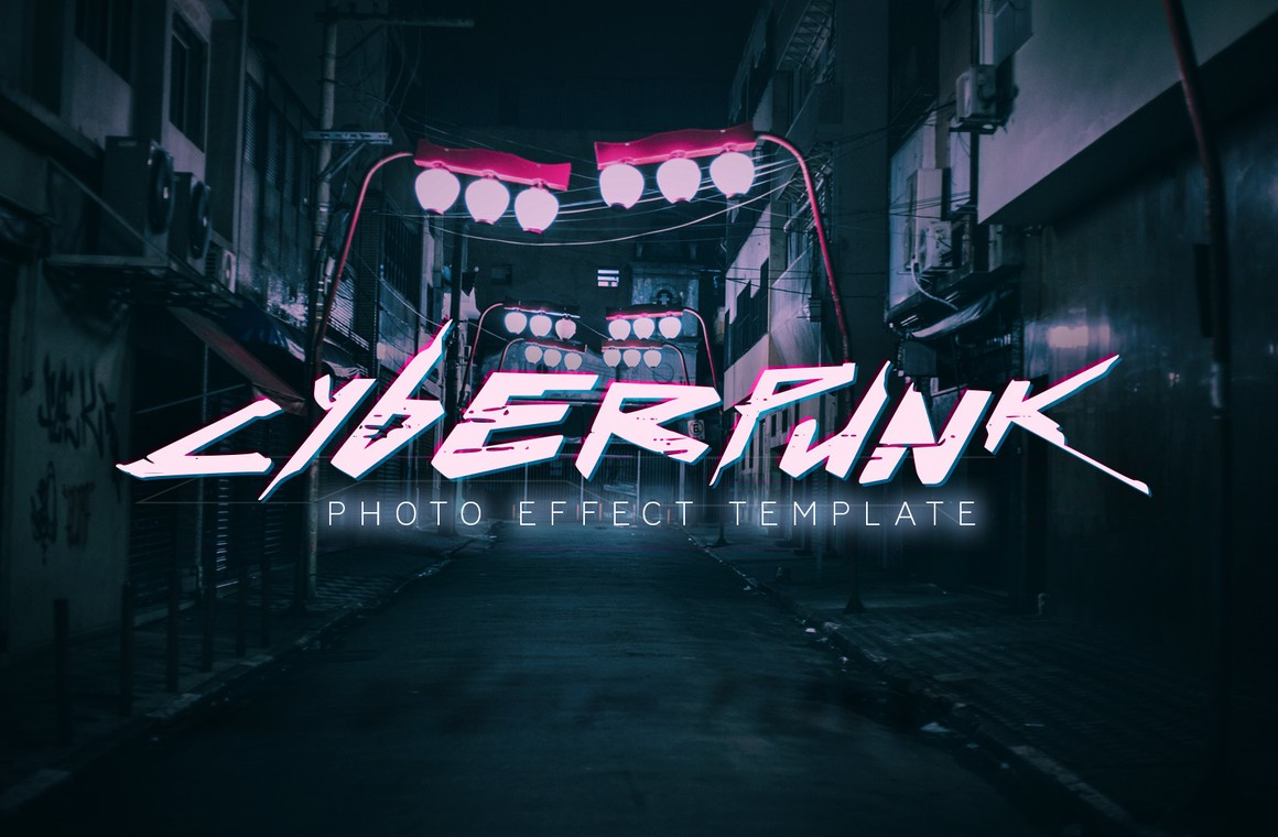 Cyberpunk Photo Effect Template